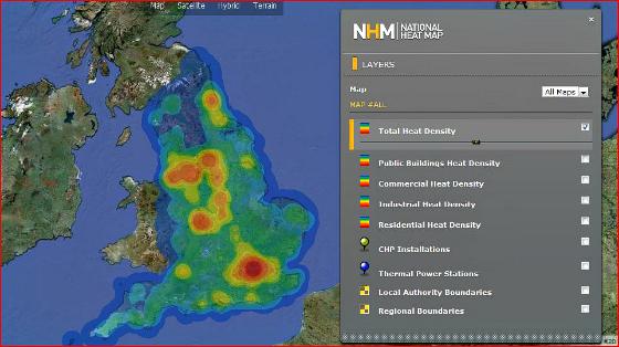 National Heat Map of UK
