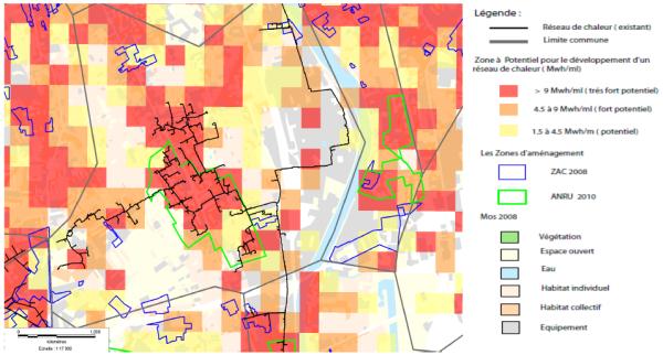 cartographie densité thermique et réseau de chaleur - l'exemple parisien