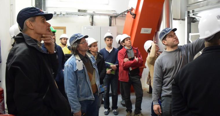 Visite chaufferie bois du Cheylard - 5 a 7 de l'eco-construction - 22 mars 2016