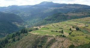 Une vue de la commune de Saint Clément en Ardèche