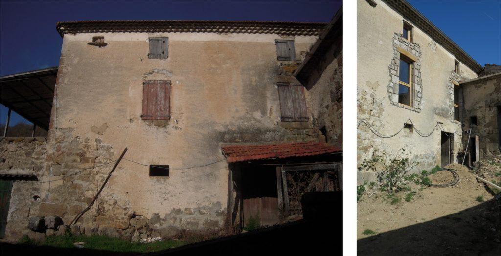 Bâtiment avant et après travaux